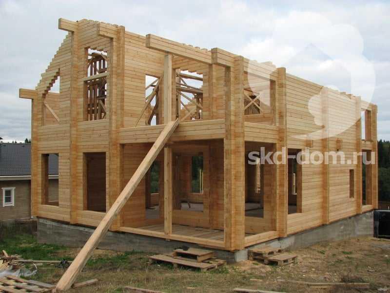Строить дом из клееного бруса своими руками 35